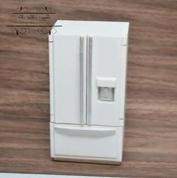 1:12 Dollhouse Miniature Fridge with Freezer on Bottom-White