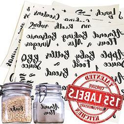 Talented Kitchen 155 Pantry Labels & Fridge � 155 Cursive