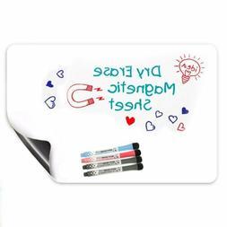 17 x 12 Magnetic Dry Erase White Board For Refrigerator & Ki