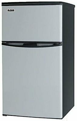 3.2 Cubc Foot 2 Door Fridge and Freezer, Stainless Steel