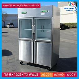Freezer and Refrigerator 4 Door Commercial Combo Cooler Rest