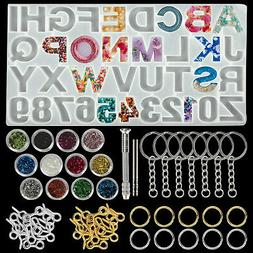 Alphabet Resin Silicone Molds Letter Number for Epoxy Molds
