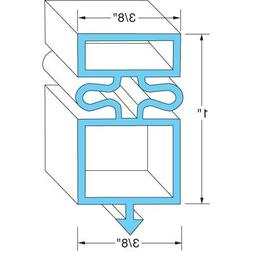 "True Manufacturing 810802 Door Gasket 24 5/8"" X 54 1/8"" Rubb"