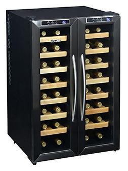 Newair - 32-bottle Wine Cooler - Black/stainless Steel
