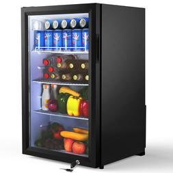 Famistar Beverage Refrigerator and Cooler - 126 Can Mini Fri