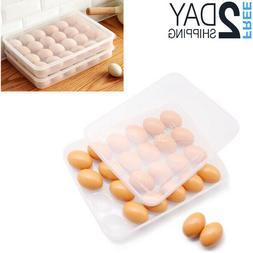 Fresh Egg Storage Container Holder Fridge Organizer Crate Tr