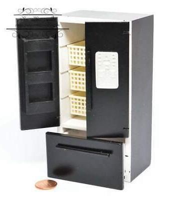 1:12 Miniature with Freezer Fridge AZ