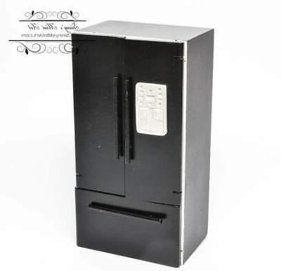 1 12 dollhouse miniature fridge with freezer