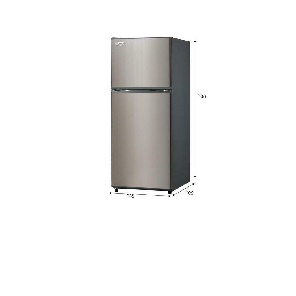 Premium 11.5 Free Top Freezer Refrigerator Black Steel Door