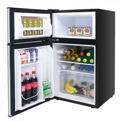 3.2 Cu Ft. Stainless Steel Refrigerator Freezer Cooler Compact