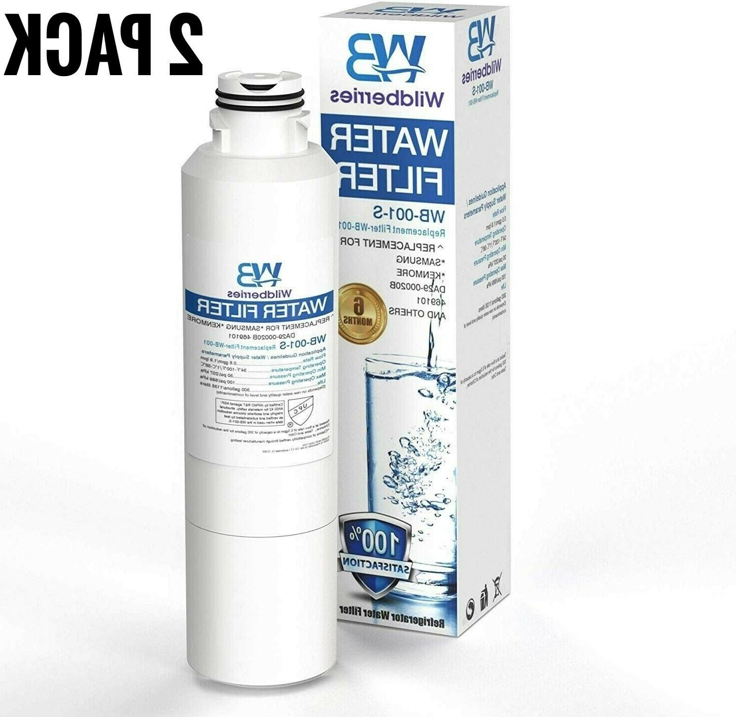 2 pack refrigerator water filter samsung rf260beaesr