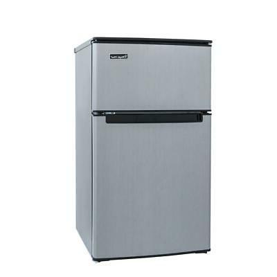 mini refrigerator stainless look width