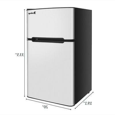 2 Door Steel Compact Cooler Fridge With