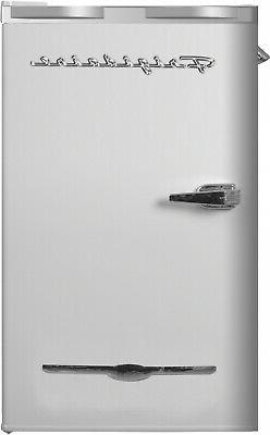 Frigidaire 3.2 Cu Ft Retro Mini Fridge Side Bottle Opener Wh