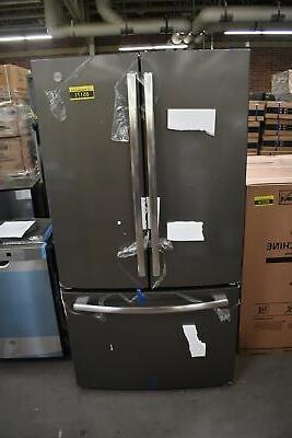 gne27jmmes 36 slate french door refrirator nob