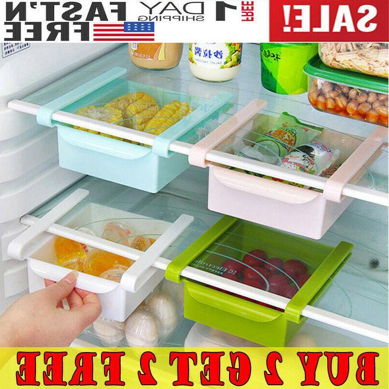 mini fridge slide drawer freezer storage rack