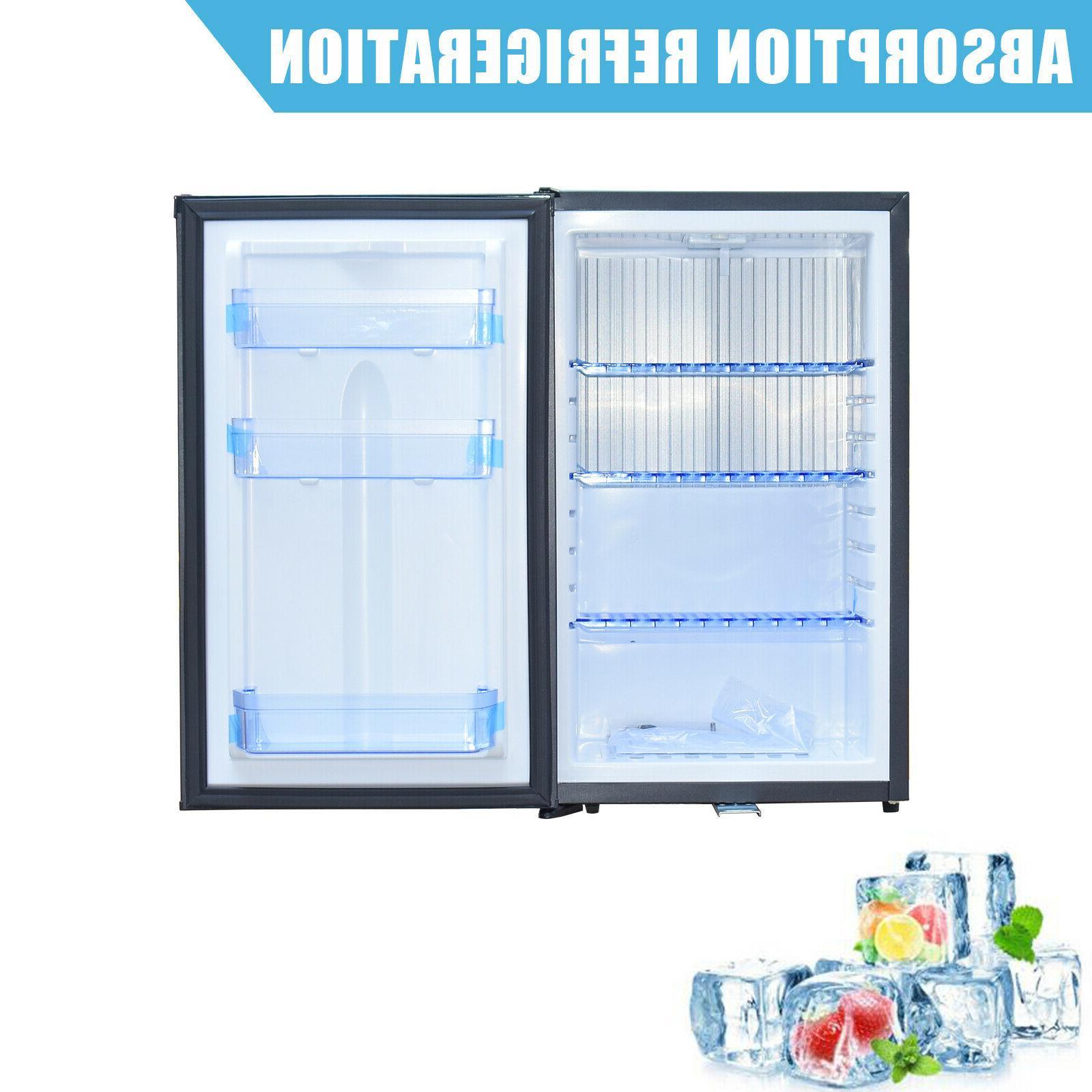Mini RV Refrigerator 12V Semi Truck Fridge AC DC Compact Sil