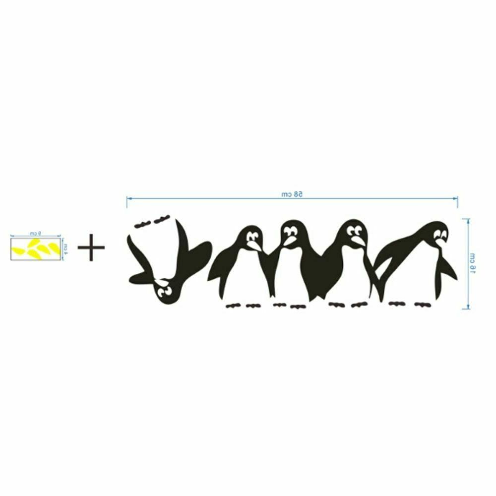 Penguin Fridge Stickers DIY Decals Kitchen