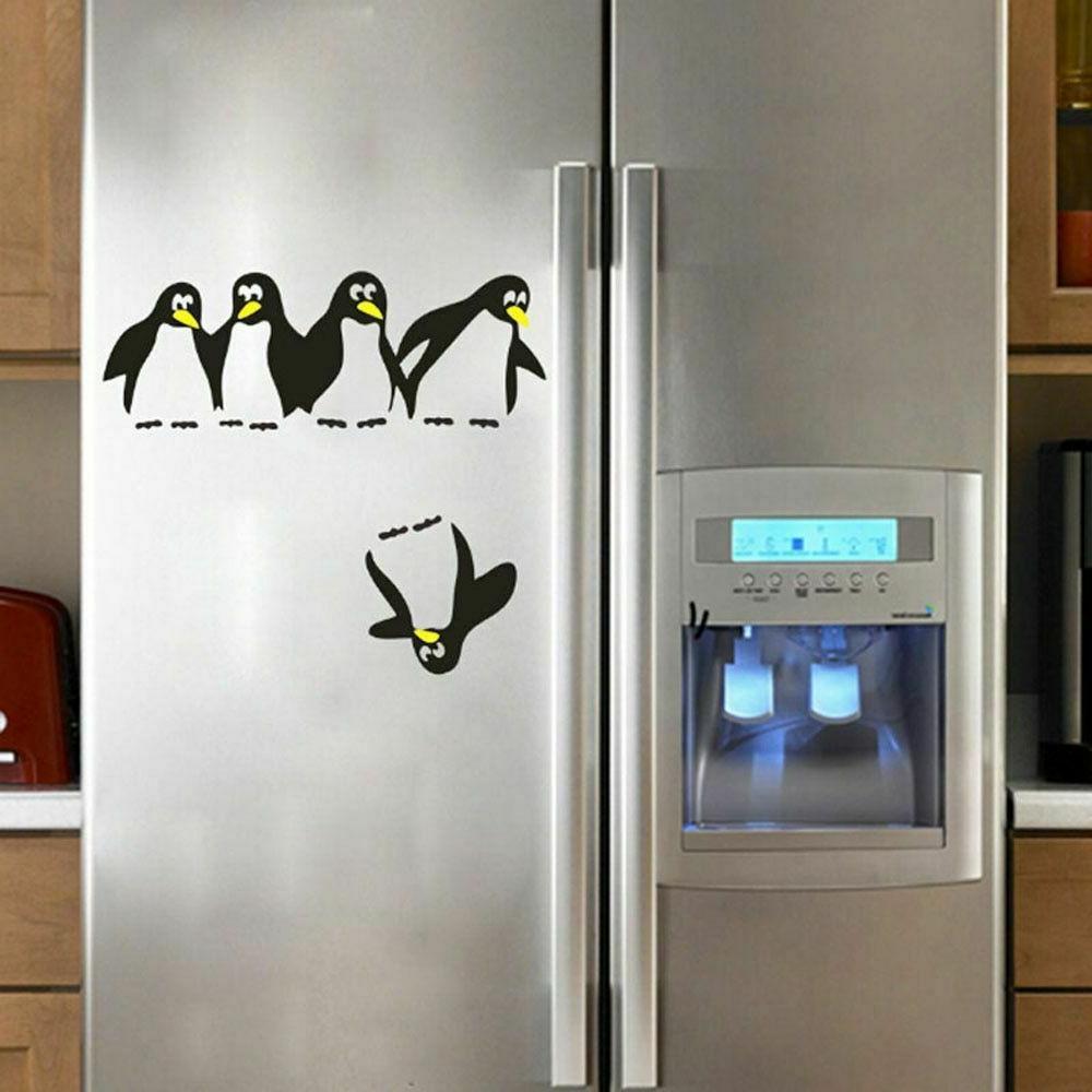 Penguin Fridge Stickers DIY Kitchen Dining