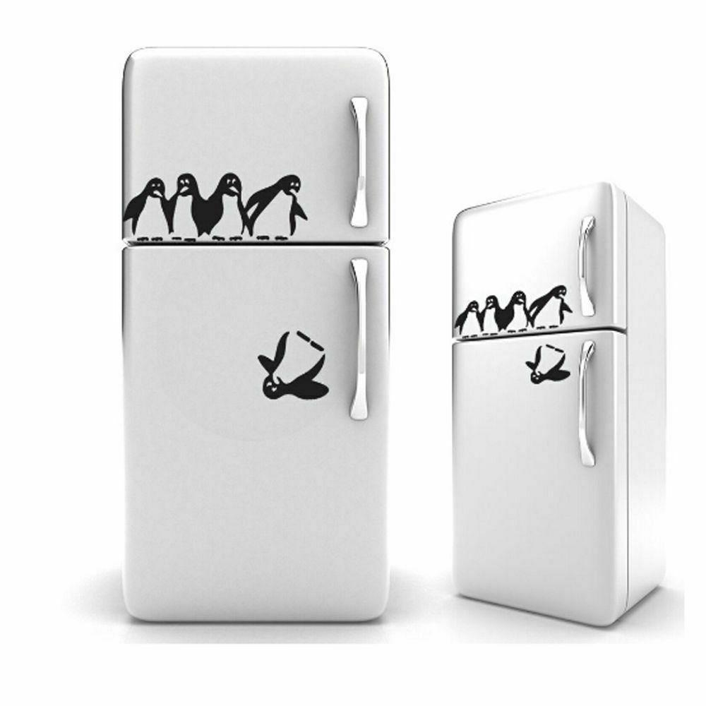 Penguin Fridge Wall Adhesive Stickers DIY Decals Home Kitche