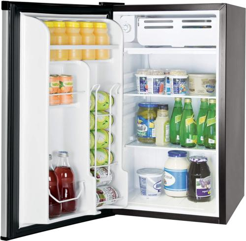 RCA Office Compact 3.2 cu ft Refrigerator Gray Color