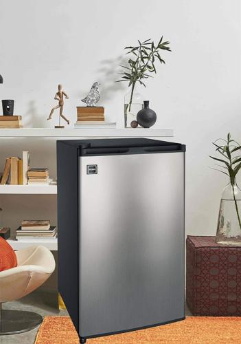 Compact Refrigerator Fridge Gray Color