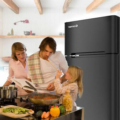 stainless steel refrigerator mini freezer cooler fridge