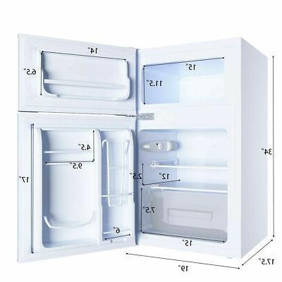 Stainless Refrigerator Freezer Cooler Fridge 3.2 cu ft. Unit
