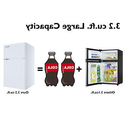 Stainless Refrigerator Freezer Fridge cu ft.