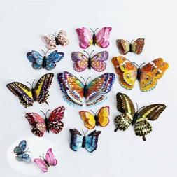 Magnets Ornament Butterfly Kitchen 12pcs Refrigerator Lots F