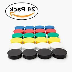 Bullseye Office Magnets  - Round, Refrigerator Magnets - Per