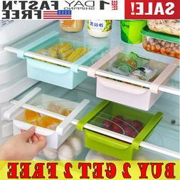 Mini Fridge Slide Drawer Freezer Storage Rack Box Kitchen Ac