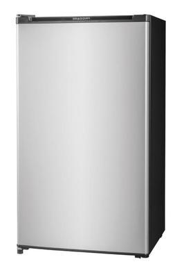 New 3.3 Cu. Ft. Compact Refrigerator Silver Mini Fridge Smal
