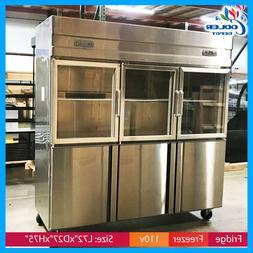 Refrigerator and Freezer Dual temperature 6 Door Combination