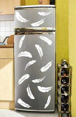 Set of 24 stylish feathers wall sticker - perfect for fridge