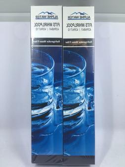 Alpine Water 2 Pack Fridge Filters Fits Whirlpool  4396841 /
