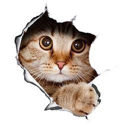 Winston & Bear 3D Cat Stickers 2 Pack - Peeking Cat Sticker